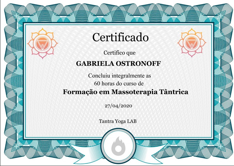 certificado terapia tantrica