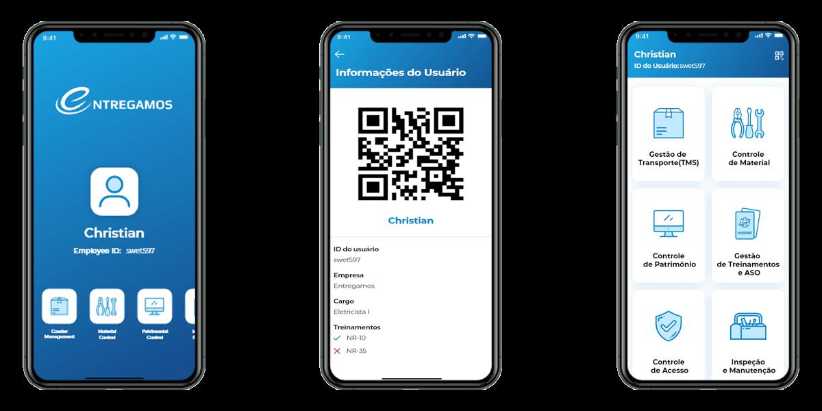 Telas Iniciais do App Entregamos
